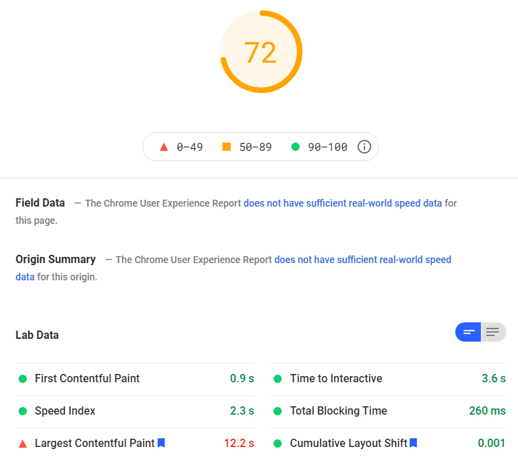 Jetpack Boost after google page speed